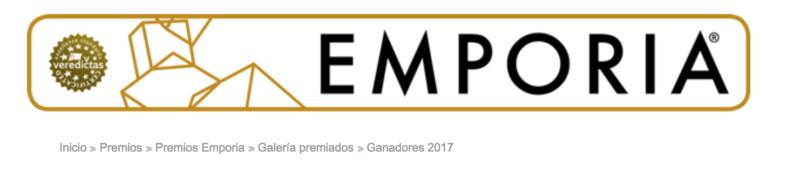 TRIPLE RECONOCIMIENTO !!! Premios Nacionales de Arquitectura Efímera EMPORIA 2017
